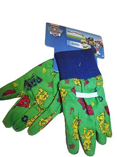 Need This:  Paw Patrol Kids Gardening Gloves Green Novelty