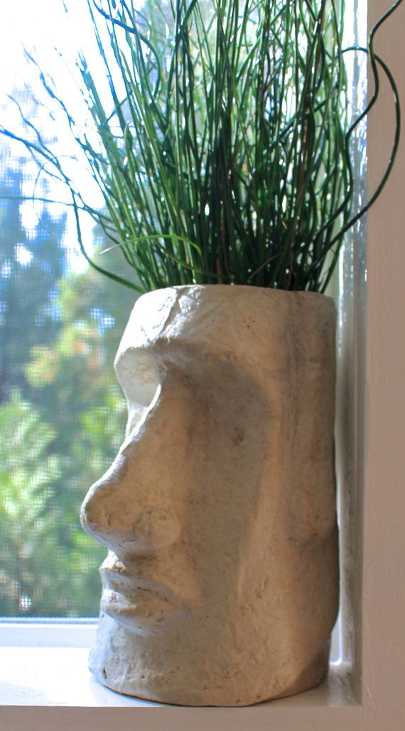 Easter Island Head Planter