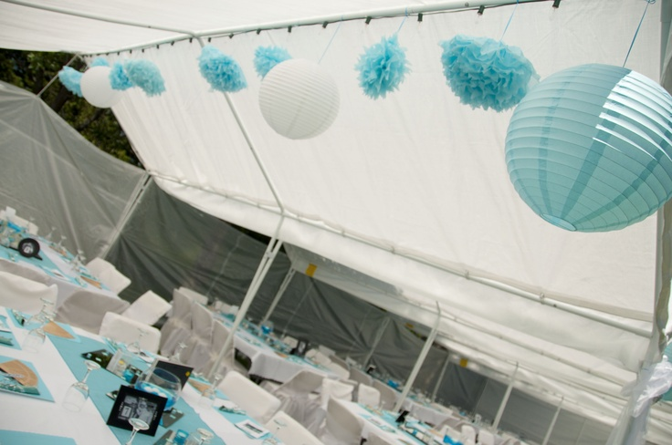 Inside one of the guest tents
