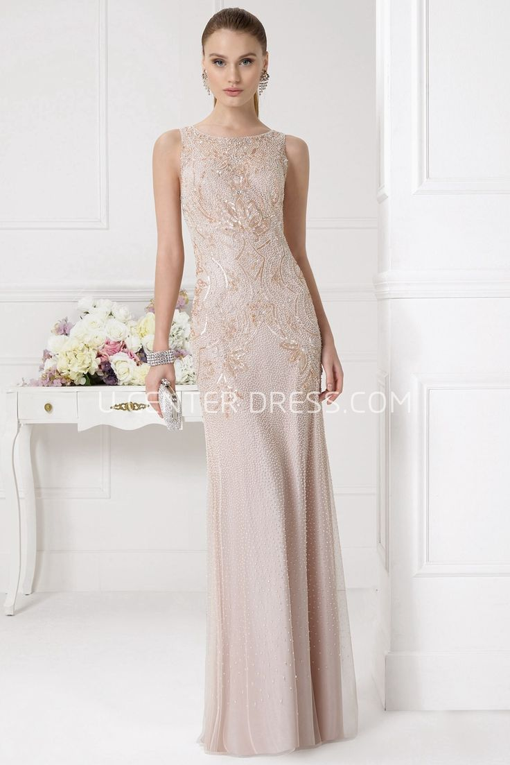 $128.89-Unique Prima Sleeveless Champagne Sheath Prom Dress with Illusion Back. http://www.ucenterdress.com/unique-prima-prom-dress-pMK_300805.html.  Shop for cheap prom dresses, party dresses, night dresses, maxi dresses, little black dresses, junior prom dresses, girls prom dresses, designer prom dresses for sale. We have great 2016 prom dresses on sale. Buy prom dresses online at UcenterDress.com #prom #dress today!