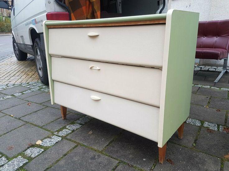 Schuhschrank Aus Den 60ern In Originaler Farbgebung Mit 3
