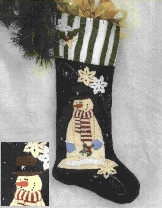 Quilt Pattern  Primitive Snowman Christmas by PrimitiveQuilting, $10.00
