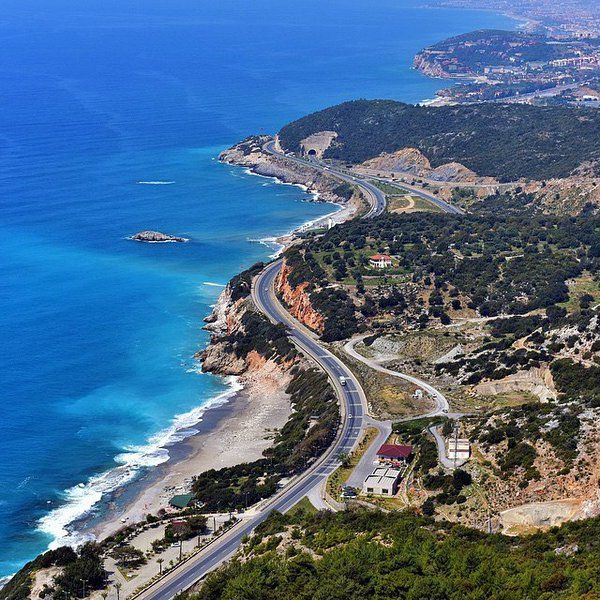 The road from Kalkan to Kas.