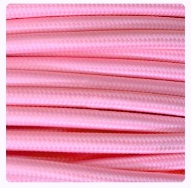 Cable Eléctrico Textil Color Rosa #cabledecorativo #cable #colores #lamparas #original #iluminacion #iluminable #electricidad interiorismo #cretividad