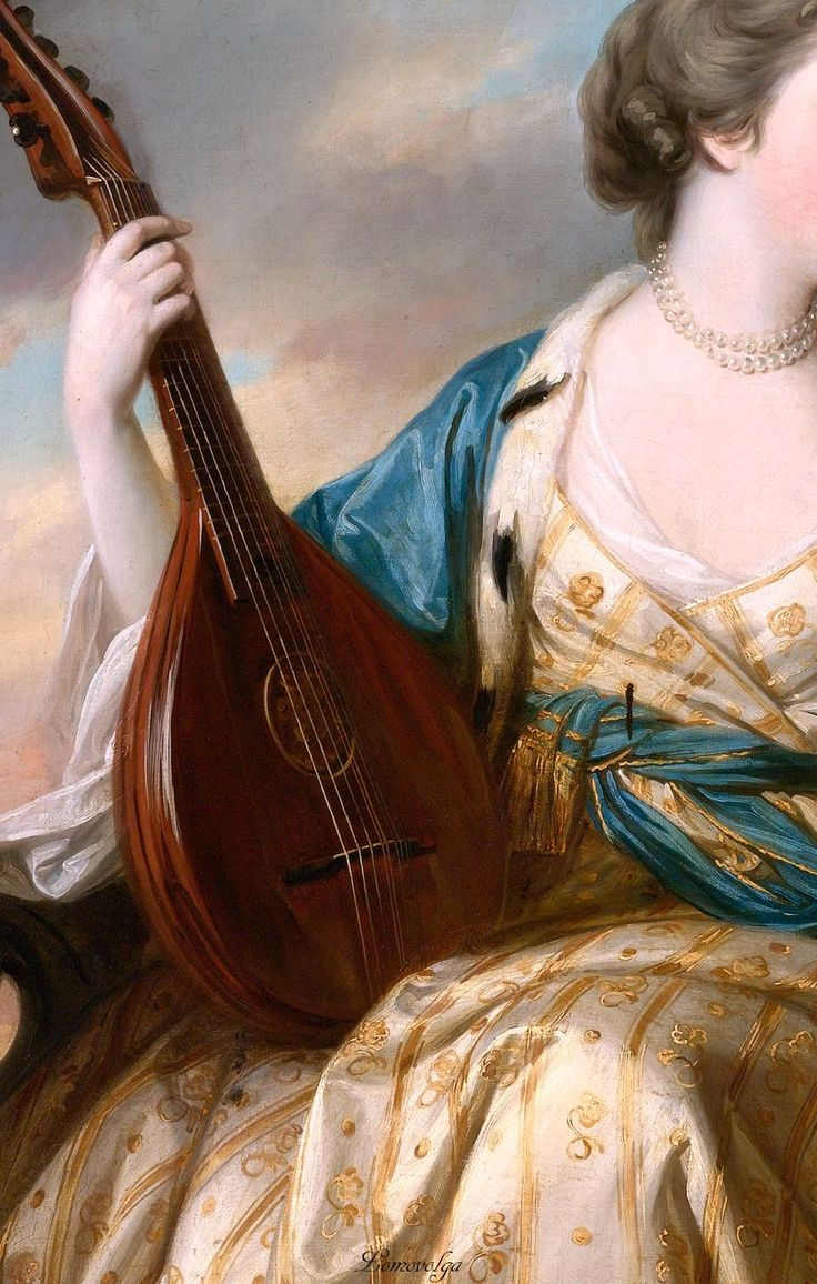 Portrait of Countess of Shipbrook (detail), by Francis Cotes (English, 1726–1770)