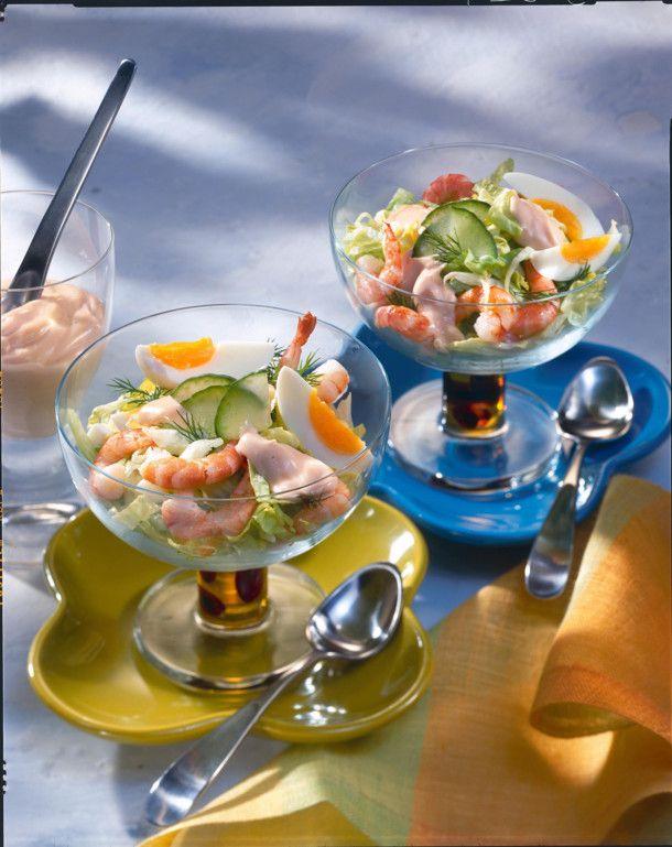 Unser beliebtes Rezept für Shrimps-Cocktail mit Ei und mehr als 55.000 weitere kostenlose Rezepte auf LECKER.de.