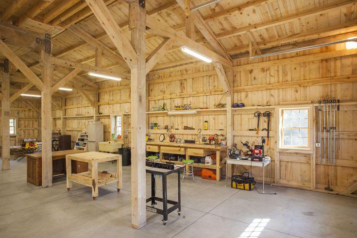Wood Barn Workshop | Sand Creek Post & Beam https://www.facebook.com/SandCreekPostandBeam
