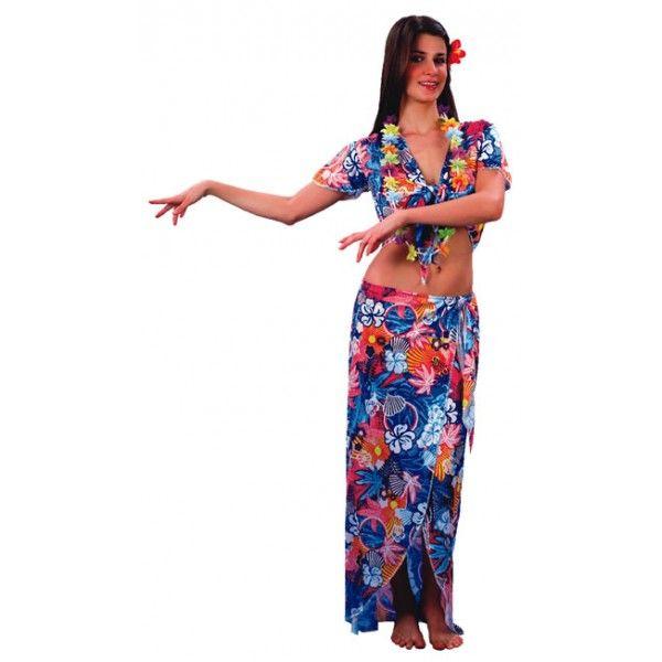 Disfraz de Hawaiana. Refrescante disfraz para tus fiestas en la piscina, en la playa, en la urbanización, en la discoteca, etc... Un disfraz...