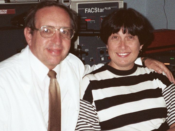 Andy and Carol Tometsko in the lab at Litron Laboratories, which celebrated its 40th year in 2016