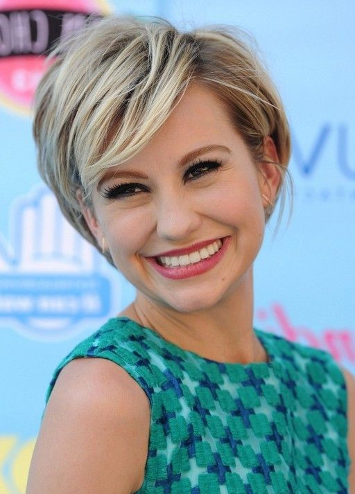 Chelsea Kane Cute Short Haircut with Side Swept Bangs for Girls