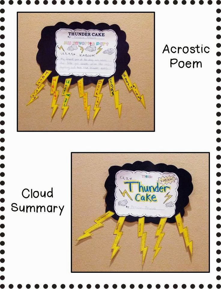 Thunder Cake poetry activity...?! Look up for science on weather and poetry combined whole mix idea