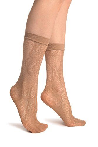 Beige Gladiolus Flowers Ankle High Socks  Socks >>> Check out this great product.