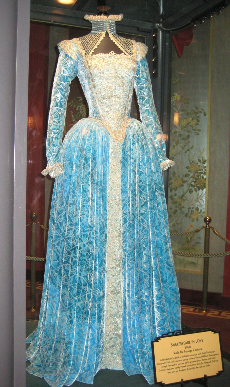 "From ""Shakespeare in Love"" (1998) worn by Gwyneth Paltrow as Viola De Lesseps design Sandy Powell"