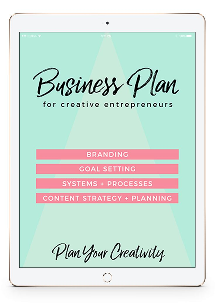 Business Plan for Creatives | Get the FREE 16-page PDF business plan template. | Branding + Content Strategy