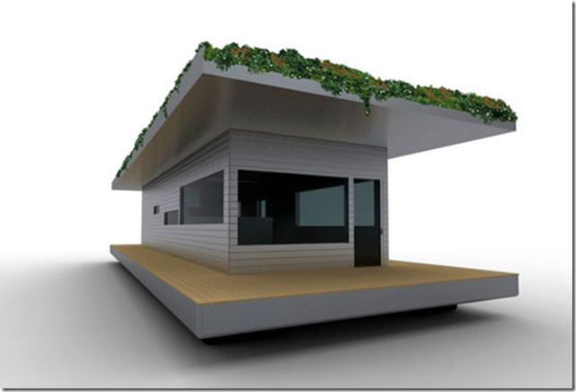 Shipping container houseboat modern but simple house for Minimalist house boat