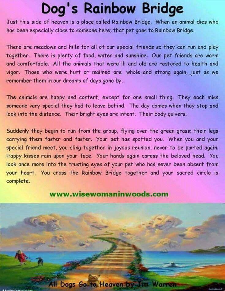 Rainbow Bridge Dog Poem Image By Ladena