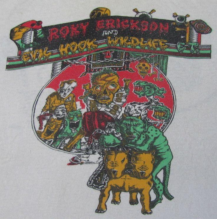 Roky Erickson Vintage 1986 T Shirt 13th Floor Elevators Concert Tour Rock Punk   eBay