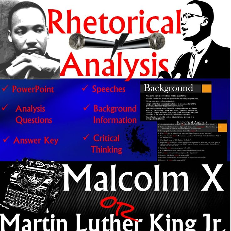 Rhetorical Analysis: Martin Luther King Jr. and Malcolm X ...