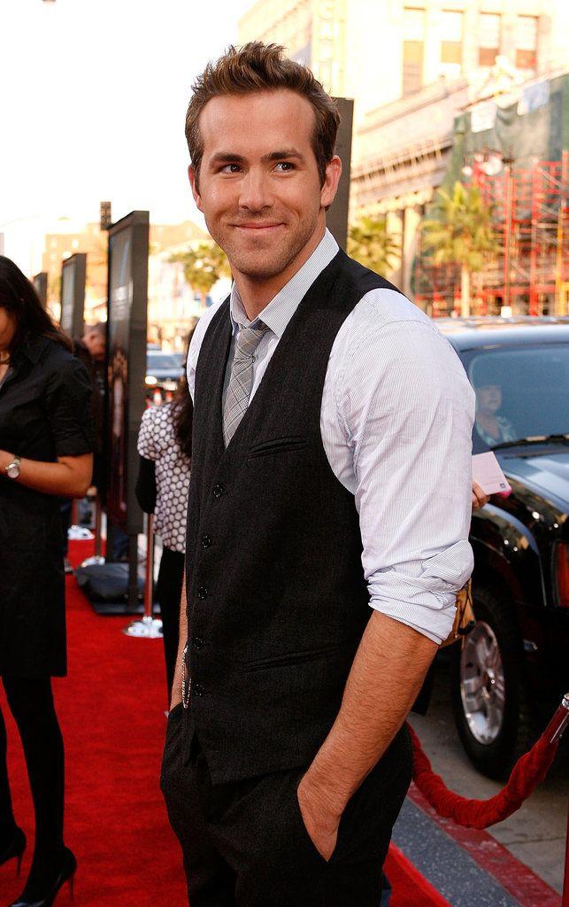 Ryan Reynolds~ when I workout I like to imagine he's watching. That way I push myself harder!!! ;)