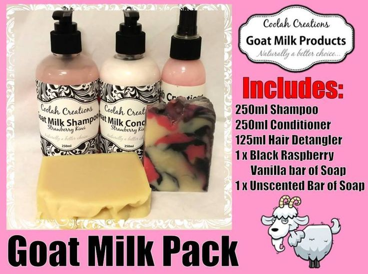 Handmade by Coolah Creations Goat Milk Hair Care and Soap Pink Pack