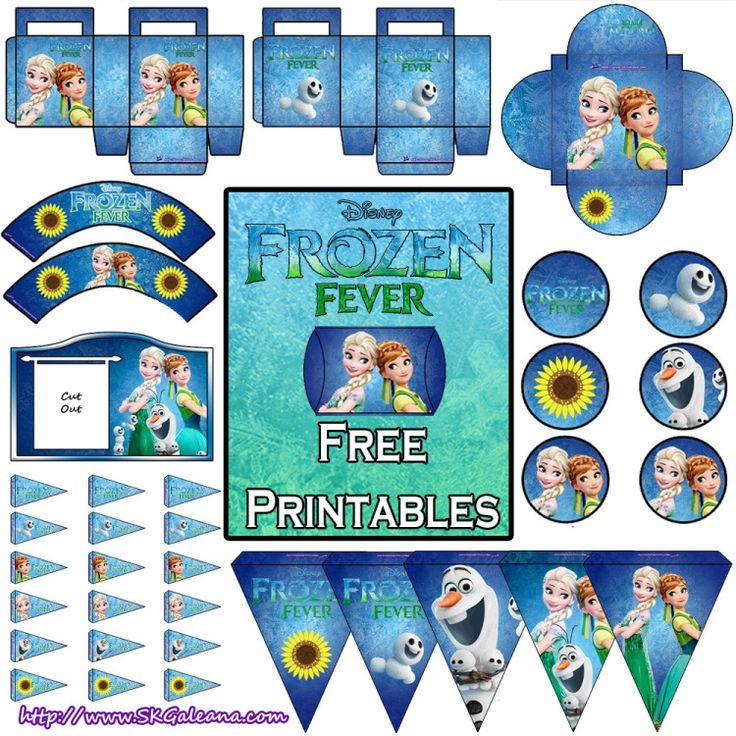 Frozen fever free printables SKGaleana