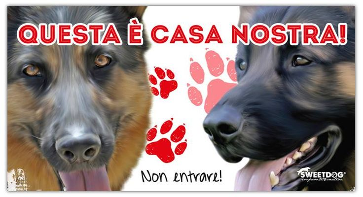 "Dogs: Horus & Lara | Personalized Beware of the dog sign | ""Attenti al Cane personalizzato"""