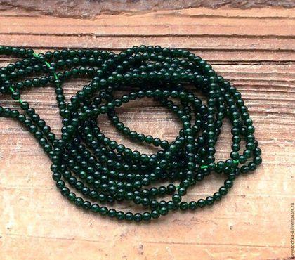 Для украшений ручной работы. Ярмарка Мастеров - ручная работа. Купить Авантюрин 2-2,5 мм - 20 см зеленый мини шар бусины камни д.украшений. Handmade.