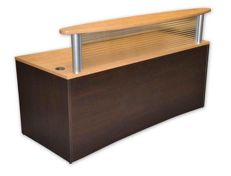 Plexiglass Reception Desk   Espresso Or Maple