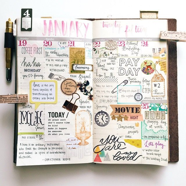 | wk of Jan. 19 - 25. 2015 | Planning is more fun with stamps. #timholtz…