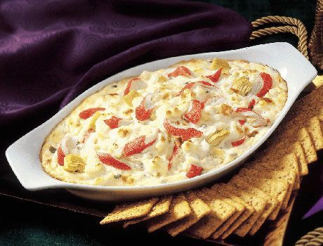 Creamy Crab and Artichoke Dip - Crab & Lobster - Seafood Recipes - Clover Leaf Canada