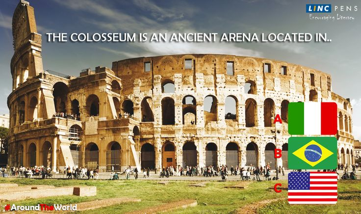 The #colosseum is an ancient arena located in?