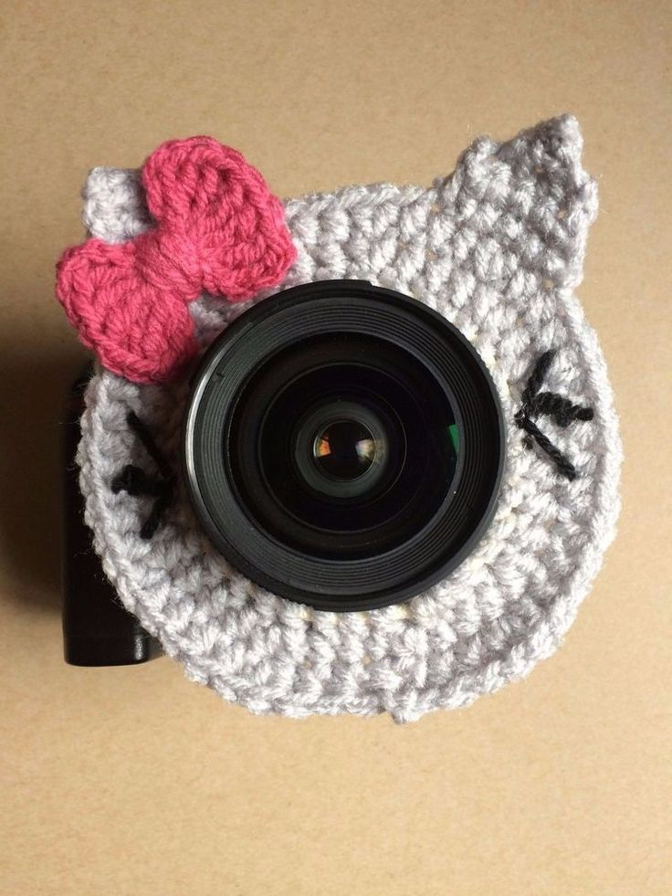 Grey Kitten with Pink Bow Camera Buddy | eBay