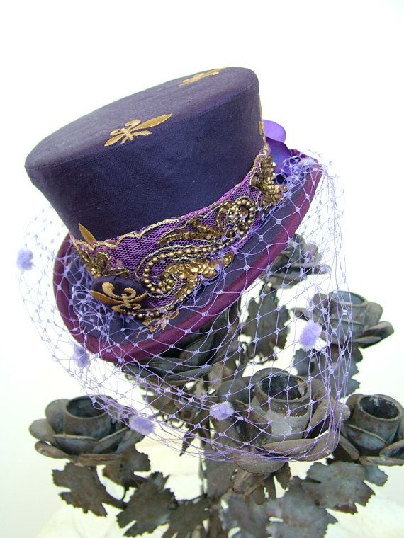Purple ♥ DECORATED SHORT TOP HAT<3