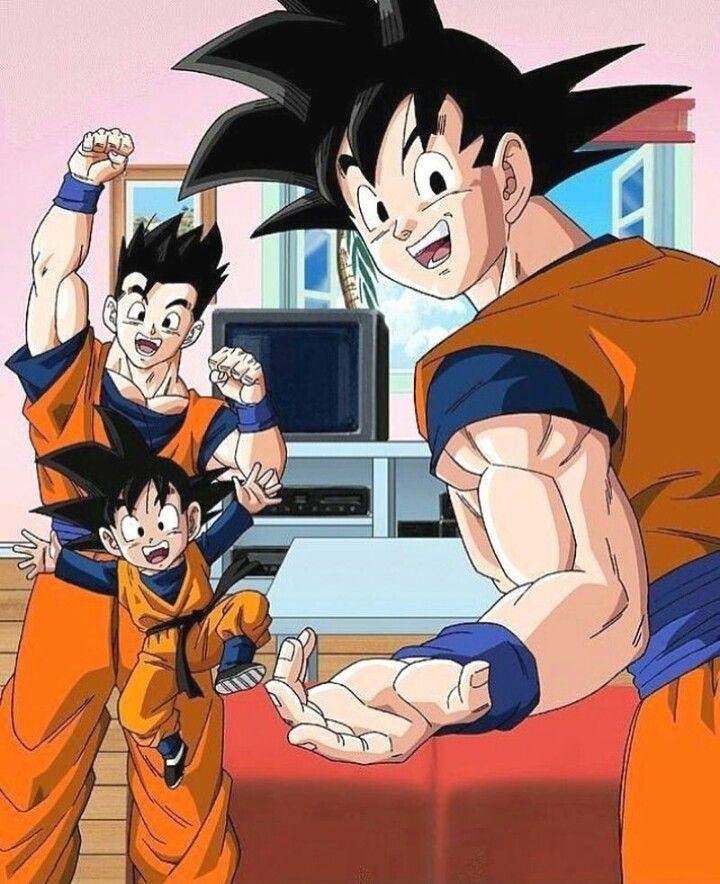 Son Goku Son Gohan Son Goten Dragon Ball Z Dragones Dibujos