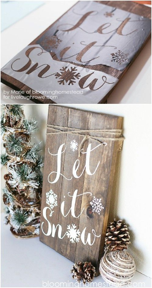40 Rustic Christmas Decor Ideas You Can Build Yourself - Page 2 of 2 - DIY & Crafts