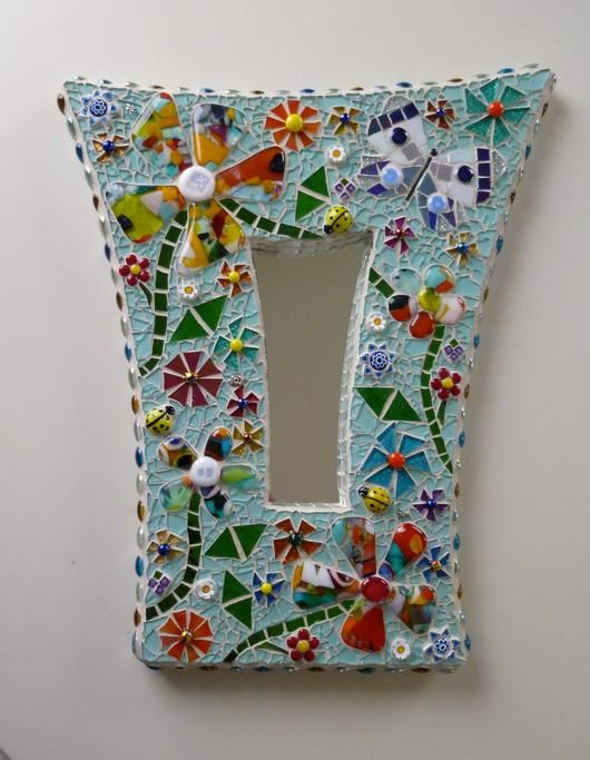 Glass fusions, tempered and stained glass. Millefiori and gems