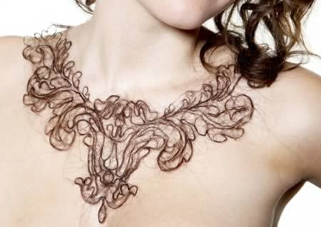 necklace made from human hair