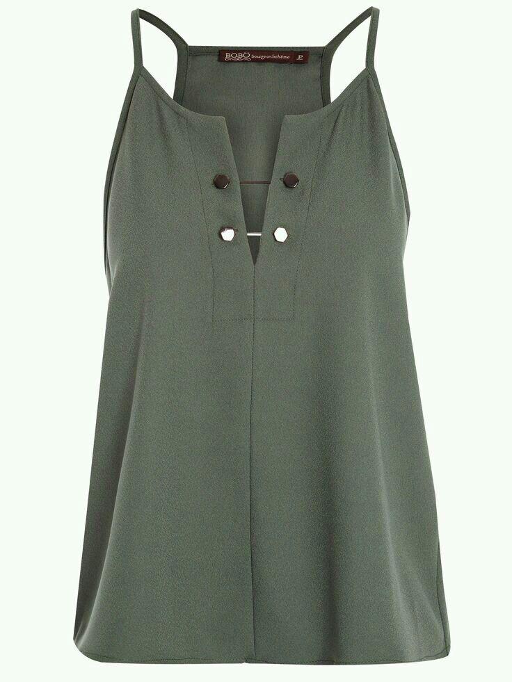 Blusa de tiros verde olivo