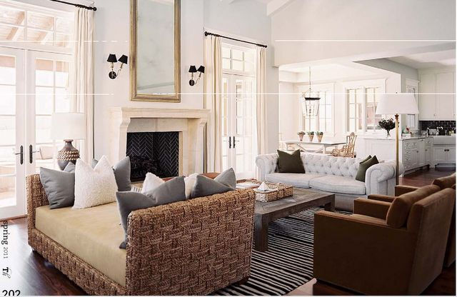 layout: Nate Berkus, Living Rooms, French Doors, Interiors, Fireplaces, Open Floors Plans, Arizona Home, Families Rooms, Decor Blog