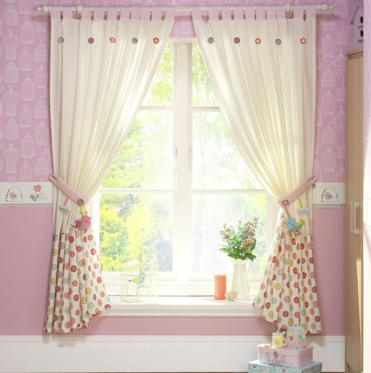 23 best curtains window treatments images on pinterest for Curtain fabric for baby nursery
