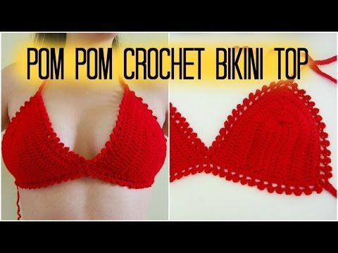 How to Crochet * Bikini Top * Bustier for Summer Top - YouTube