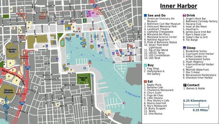 Inner Harbor, Baltimore Map
