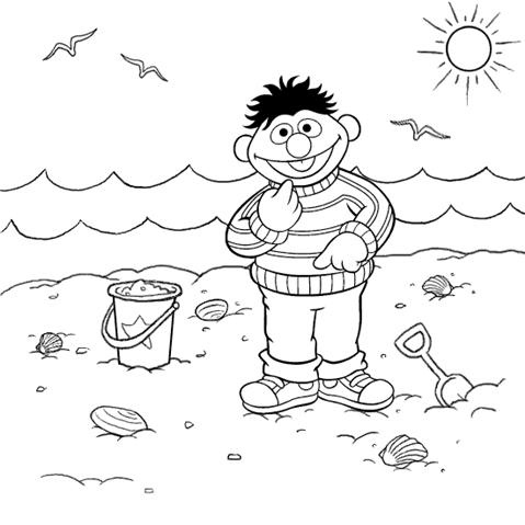 beach coloring pages beach printable coloring pages free