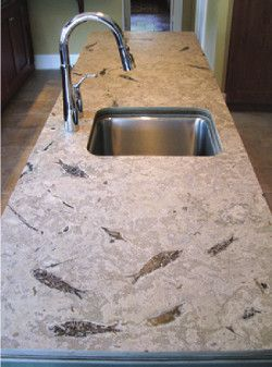 Green River Fish Fossil Countertop