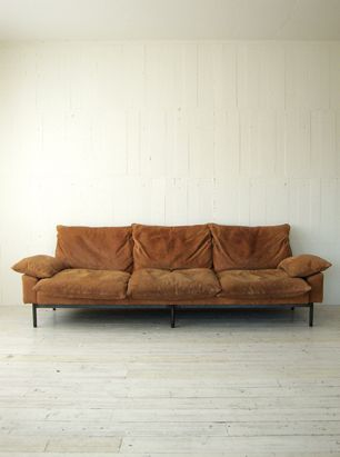 TRUCK Furniture, Japan. Gorgeous leather sofa.