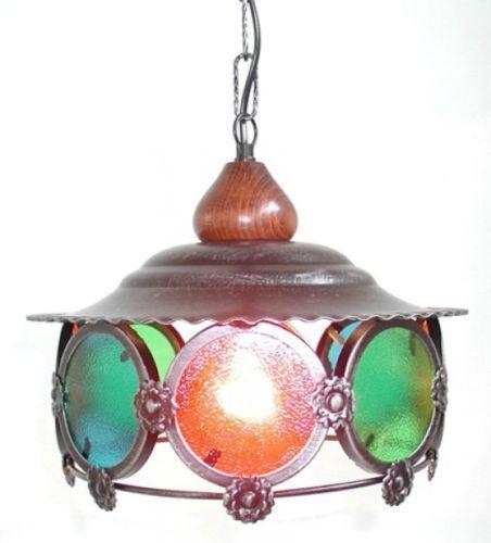 LAMPADA-A-SOSPENSIONE-LAMPADARIO-COLORI-MEDIO-IN-FERRO-BATTUTO