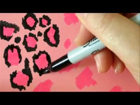 How To Make Leopard Pattern - Pink and Black Leopard For Wall