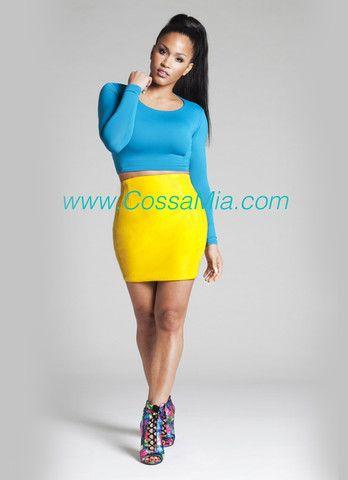 Yellow Leather Mini Skirt - CossaMia | My Style | Pinterest ...