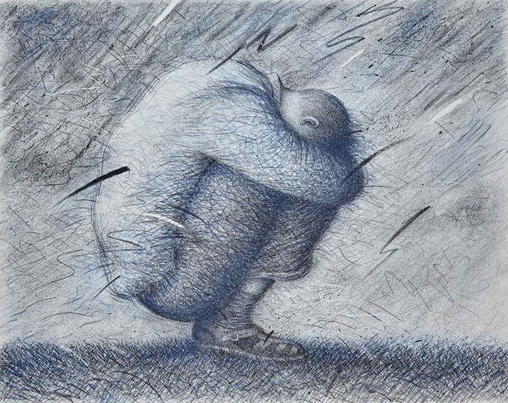 "Garif Basyrov - From the series ""Sleepers"" (1987). Lithograph. 48x60"