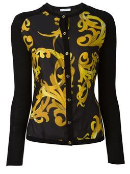 baroque print cardigan